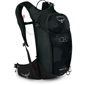 Osprey Siskin 12 Hydration Backpack Obsidian Black